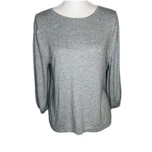 Ann Taylor Gray Soft Knit Tunic Sweater Size L.
